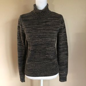 Jeanne Pierre | Shades of Brown Turtleneck  S